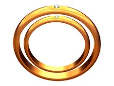 Free Two Gold Wedding Rings, One In Other. Royalty Free Stock Image - 7886916