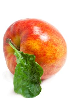 Free Apple With A Sheet Stock Photo - 7886970