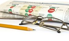 Free Newspaper And Glasses Stock Photo - 7887210