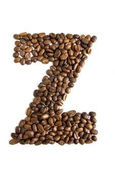 Free Coffee Letter Z Isolated On White Stock Images - 7888024