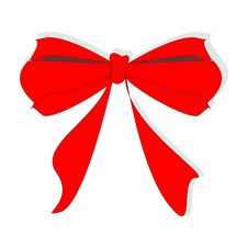 Free Red Bow. Royalty Free Stock Images - 7888049