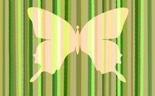 Free Green Stripes With Pale Butterfly Stock Images - 7888274