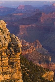 Grand Canyon At Sunrise Stock Photos