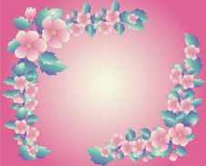 Free Pink Floral Frame Stock Photo - 7888490