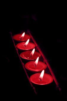 Free Many Candles On Dark Background Stock Photos - 7888583