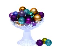 Colorful Balls In Vase Royalty Free Stock Photography