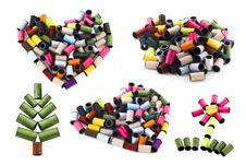 Colorful Thread Different Shape Royalty Free Stock Photo