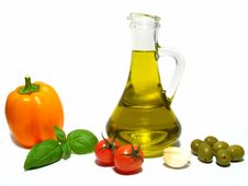 Olive Oil And Vegetable Stock Images