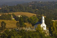 Free Church And Cemetary Stock Photo - 7889480