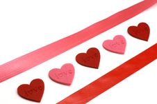 Free Hearts And Colours Ribbons Royalty Free Stock Photos - 7889578