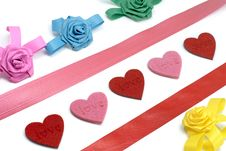 Free Colours Bows And Hearts Stock Photos - 7889583