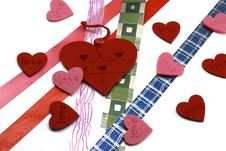 Free Hearts And Colours Ribbons Stock Image - 7889691