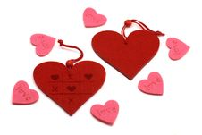 Pink And Red Hearts Royalty Free Stock Photos