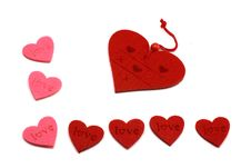 Free Pink And Red Hearts Royalty Free Stock Photography - 7889777