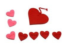 Free Pink And Red Hearts Stock Photography - 7889802