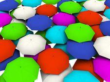 Free Many Umbrellas Royalty Free Stock Photos - 7889848