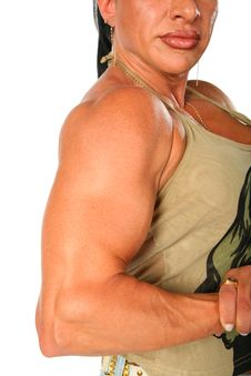 Bodybuilder Woman Stock Images