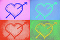 Free Colorful Hearts Royalty Free Stock Images - 7890619