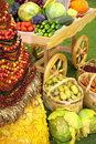 Free Cart With Fruits And Vegetables Royalty Free Stock Image - 7891816