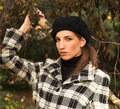 Free Young Woman In Autumnal Park Stock Image - 7894231