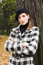 Free Young Woman In Autumnal Park Royalty Free Stock Photography - 7894347