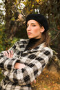 Free Young Woman In Autumnal Park Stock Photography - 7894352