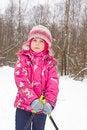 Free Girl On Cross-country Ski Stock Photo - 7895020