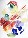Free Palette With Paints Royalty Free Stock Image - 7896956