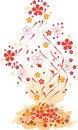Free Grunge Orange Flowers Stock Photo - 7898450