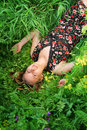 Free Girl In The Grass Royalty Free Stock Image - 7898816