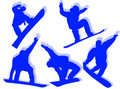 Free Snowboarders Silhouettes Stock Photo - 7898890