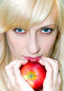 Free Girl With Apple Stock Images - 7899354