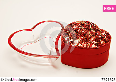 Free Heart Shape Containers Royalty Free Stock Photos - 7891898