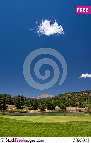 Free A Golf Hole On An Arizona Course Stock Image - 7893041