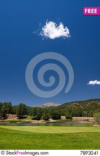 Free A Golf Hole On An Arizona Course Stock Image - 7893041