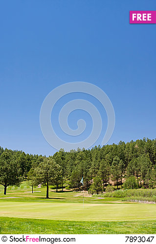 Free A Golf Hole On An Arizona Course Royalty Free Stock Photography - 7893047