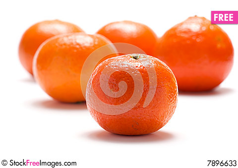 Several tangerines Stock Photo