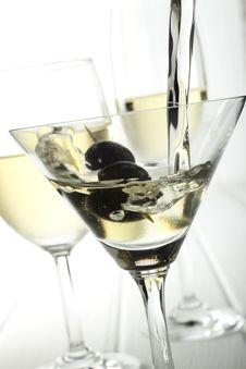 Free White Wine Glass Royalty Free Stock Photos - 7890398