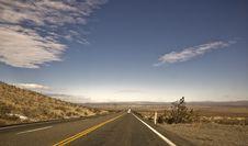 Free Mojave Desert Highway Stock Image - 7890541