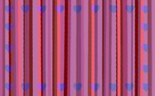Pink Stripes With Hearts Royalty Free Stock Photos