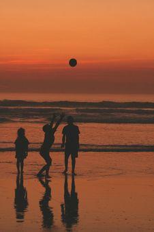 Free Kids At Sunset 1 Stock Photos - 7891343