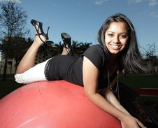Free Teen On A Ball Stock Images - 7891344