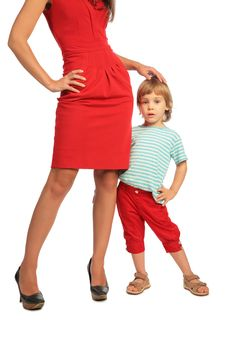 Free Woman And Little Girl Posing Stock Image - 7891421