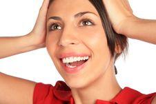 Glad Woman. Close- Up. Royalty Free Stock Image