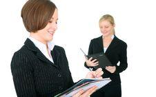 Female Businessteam Working Stock Image