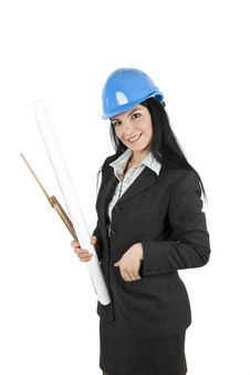 Free Woman Engineer Stock Image - 7892821