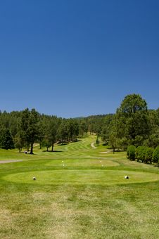 A Gorgeous Golf Course In Arizona Stock Images