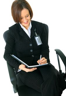 Free Female Working Businesswoman On Chair Stock Photo - 7892960