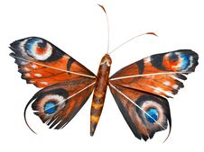 Free Isolated Artificial Decorative Butterfly Royalty Free Stock Photography - 7893037