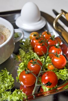 Free Close Up English Breakfast With Tomato In Focus Stock Photos - 7893233